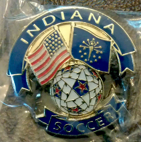 National Soccer Hall Of Fame State of INDIANA PIN