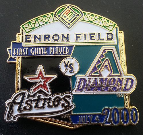 HOUSTON ASTROS vs ARIZONA DIAMONDBACKS ENRON Pin