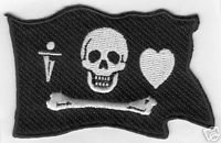PAINTBALL BONNET PIRATE PATCH