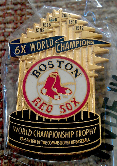 Red Sox 6 Times World Series Champions Lapel Pin