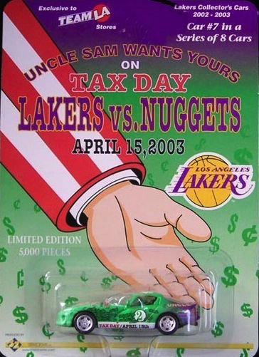 Los Angeles LAKERS #7 of 8 - 2003 Die Cast Car