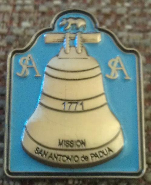 SAN ANTONIO de PADUA Mission BELL Pin (Blue)