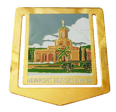Newport Beach Temple BRASS BookMark