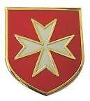 MALTESE CROSS Malta Knights Hospitaller Lapel Pin