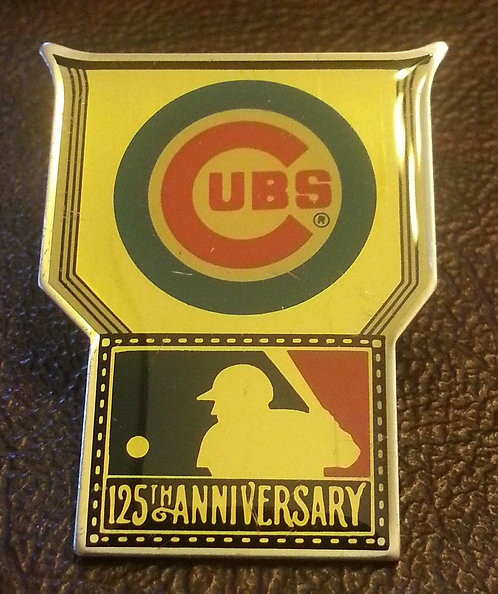 CUBS / MAJOR LEAGUE BASEBALL 125th ANNIVERSARY PIN