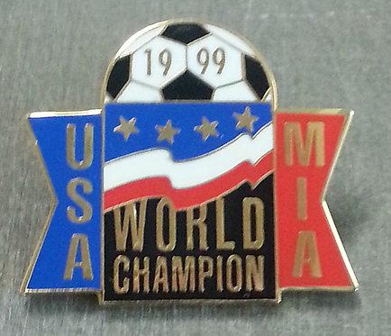 MIA HAMM #9 WWC 1999 USA WORLD CHAMPION LAPEL PIN