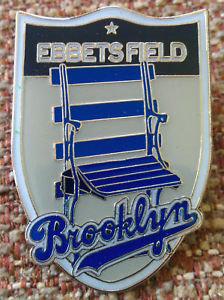 Ebbets Field Brooklyn Dodgers Stadium Seat Pin