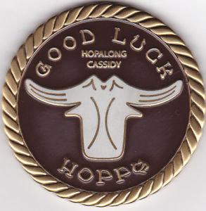 HOPALONG CASSIDY GOOD LUCK CHALLENGE Geocoinin COI