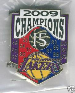 Los Angeles Laker 2009 - 15 Championships Pin