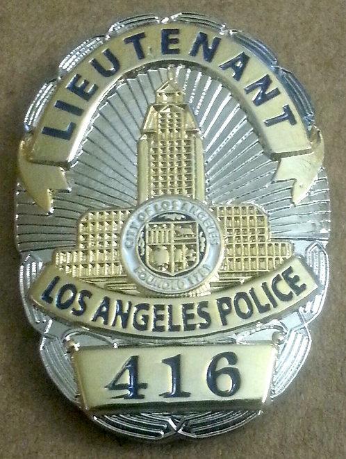 LAPD LIEUTENANT COLUMBO MINI BADGE #416 Lapel Pin