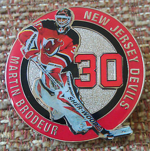 NEW JERSEY DEVILS MARTIN BRODEUR #30 Lapel Pin