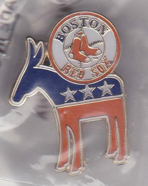 Boston Red Sox Democratic (Donkey) Lapel Pin