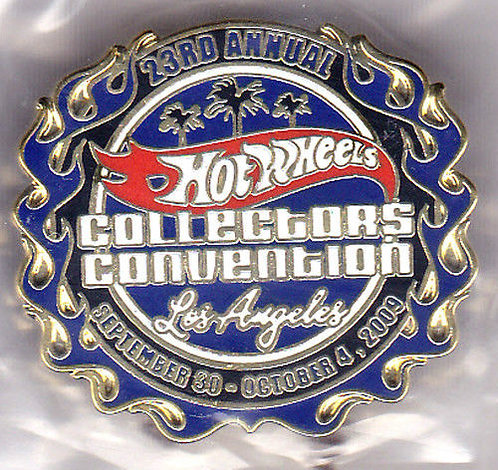 Hot Wheels 2009 23rd Collectors CONVENTION Pin