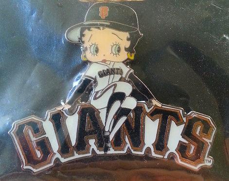 SAN FRANCISCO GIANTS BETTY BOOP LAPEL PIN