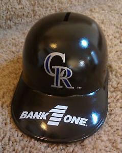"""COLORADO ROCKIES """"BANK 1"""" BATTING HELMET Bank"""