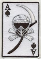 PAINTBALL DEATH CARD Shoulder Embroidered PATCH