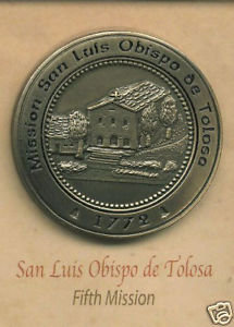 SAN LUIS OBISBO de TOLOSA  #5 Mission Lapel Pin