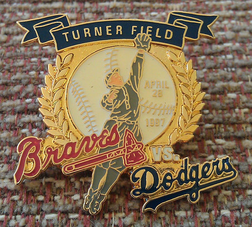 DODGERS First Game Played @ TURNER FIELD Lapel PIN