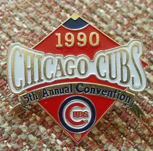 CUBS 5th Annual Convention 1990 DIAMOND SHAPE PIN