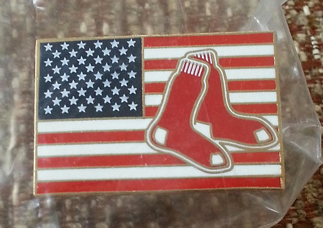 Boston Red Sox with UNITED STATES FLAG Lapel Pin