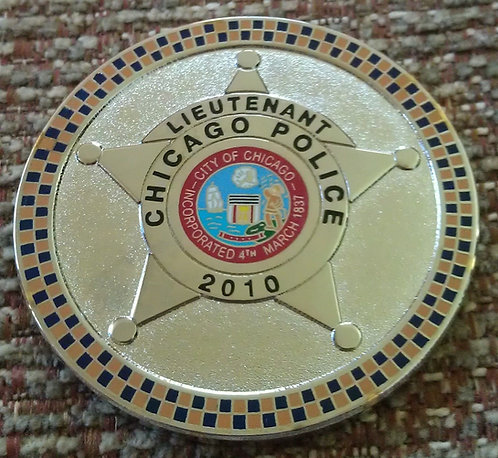 "CHICAGO POLICE LIEUTENANTS ASSOCIATION 1-3/4"" Coin"