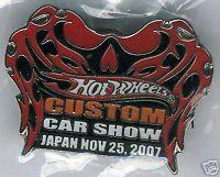 "ORANGE 2007 ""JAPAN Custom Car Show"" LAPEL PIN"