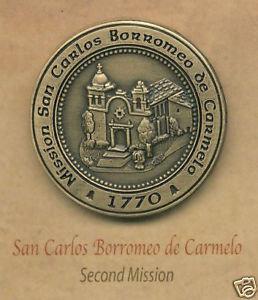 SAN CARLOS BORROMEO de CARMELO #2 Mission Pin