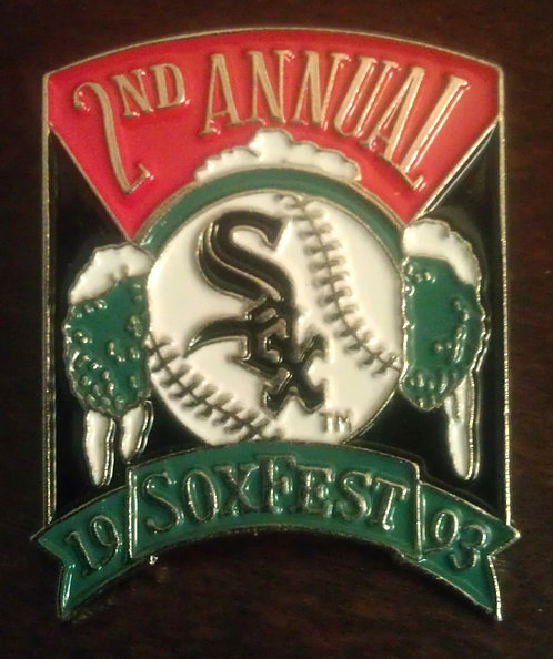 CHICAGO WHITE SOX 2nd Annual SOXFEST, 1993 Pin
