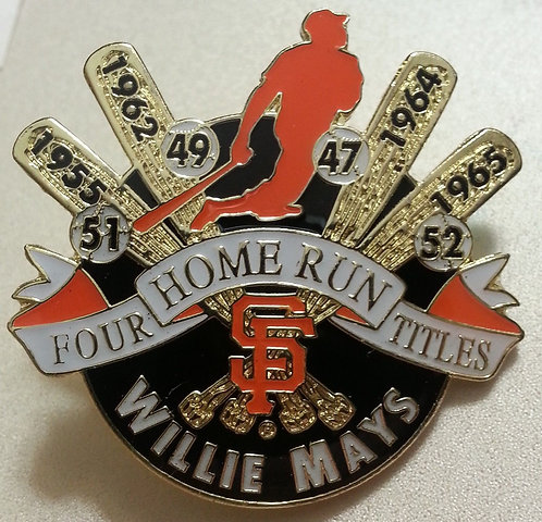 Willie MAYS 4 Home Run Titles Lapel Pin