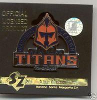 NY TITANS 2007 Inaugural Season Licensed Lapel Pin