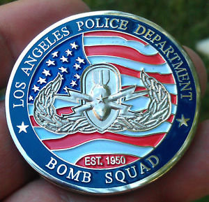 Los Angeles Police Dept. BOMB SQUAD Challenge Coin