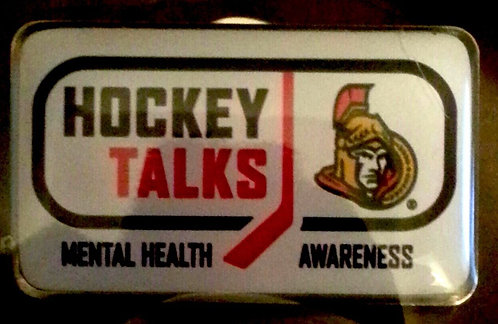 Senators Hockey Talks Mental Health Awareness Pin