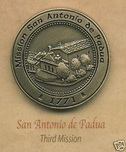 SAN ANTONIO de PADUA #3 California Mission Pin