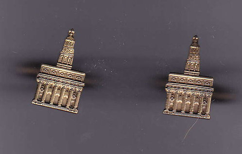 NAUVOO TEMPLE Antique Gold Cuff Link Set