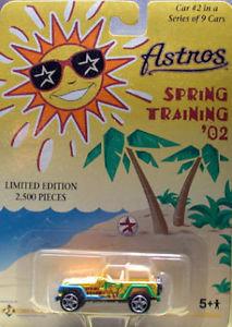 HOUSTON ASTROS #2 in a 9 Car Series - Die Cast Car