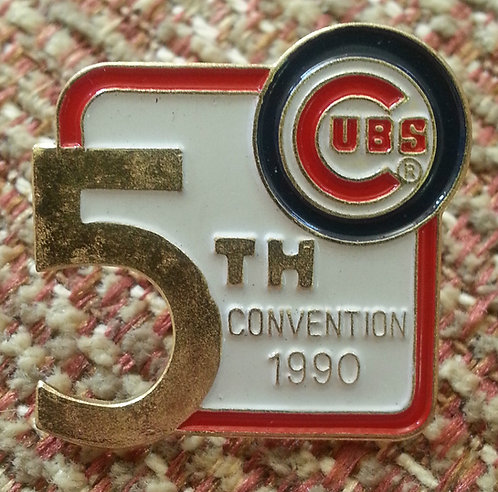 CHICAGO CUBS 5th Convention 1990 Cut Out SHAPE PIN
