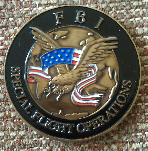 FBI SPECIAL FLIGHT OPERATIONS Challenge Coin