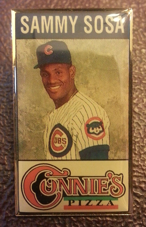 SAMMY SOSA CONNIE'S PIZZA SPONSOR LAPEL PIN