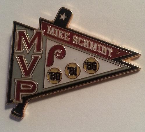 Mike Schmidt 3 MVP AWARDS Lapel Pin