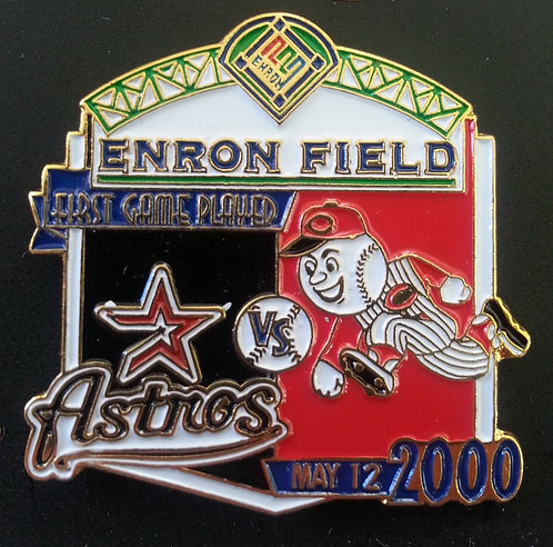 REDS First Game Played ENRON FIELD Lapel Pin