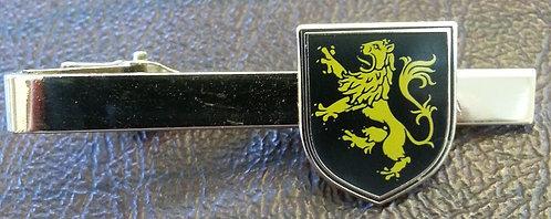 LION RAMPANT (BLACK SHIELD) HERALDIC TIE BAR