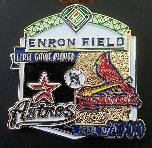 CARDINALS First Game Played at ENRON FIELD Pin