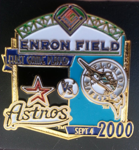 MARLINS First Game Played ENRON FIELD Lapel Pin