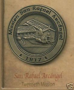 SAN RAFAEL ARCANGEL #20 Mission Lapel Pin
