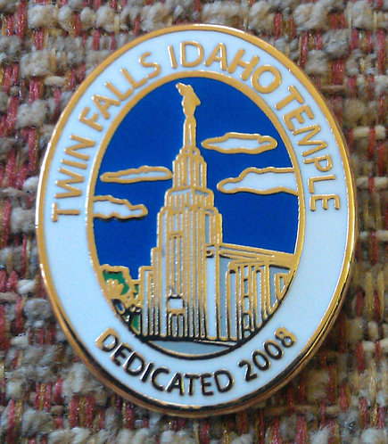 TWIN FALLS IDAHO Temple Dedication Lapel Pin