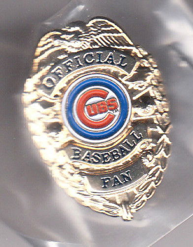 CHICAGO CUBS OFFICIAL BASEBALL FAN BADGE PIN