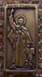 "Saint FRANCIS ""Patron Saint of Animals"" Lapel Pin"