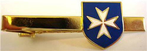 MALTESE CROSS Malta (BLUE) TIE BAR