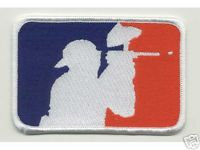 PAINTBALL Red/White/Blue LOGO Embroidered Patch