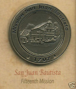 SAN JUAN BAUTISTA California Mission Lapel Pin #15